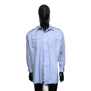 Blue shirt genuine RAF mans long sleeved uniform polyester cotton epaulettes