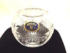 Beautiful Bohemia Czech Crystal Tea Light Bowl Excellent