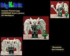HAWKMAN Green Lantern DC Custom Printed LEGO Minifigure w/Custom Ring & lantern