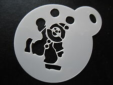 Laser cut small juggling clown design cake, cookie,craft & face painting stencil