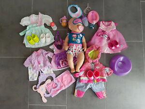 Zapf Baby Born Puppe mit 6 Outfits 40 cm + Pferd gebraucht
