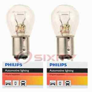 2 pc Philips Brake Light Bulbs for Rover 2000 3500S 1969-1971 Electrical ba