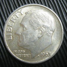 ETATS-UNIS , USA - ONE DIME 1963 - ROOSEVELT - Argent
