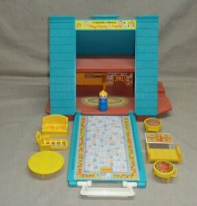 Vintage Fisher Price Play Family A Frame House #990