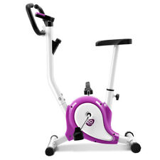 Exercise Bike Stationary Cycling Fitness Cardio Aerobic Equipment Gym Purple