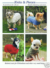 CHIHUAHUA COATS KNITTING  PATTERN ALSO SUITABLE FOR OTHER VERY SMALL DOGS KP06
