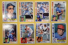 Autographed Signed Lot of 24 1984 Topps Cards