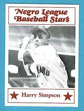 Fritsch Negro League Baseball Stars Singles: #92 Harry Simpson