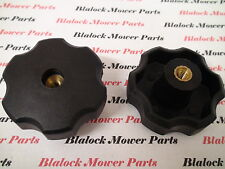 """10355 (LOT of 2) Fluted Torque Knobs 1/4"""" - 20 Female thread clamping knobs."""