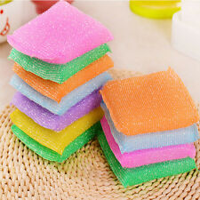 4Pcs Sponge Bowl Washing Towel Cloth Nonstick Oil Scouring Pad Kitchen Tools