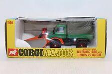 Corgi No 1150 Mercedes Benz Unimog 406 with Snow Plough/Plow - Gt Britain - HTF