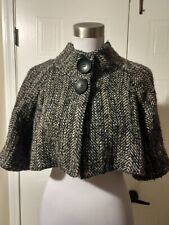 THEORY Josefa W Interest Boucle Tweed Capelet Size Small S