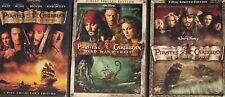 💿 Pirates Of The Caribbean (Dvd 2007) 3 Movie Lot Johnny Depp Disney Movies