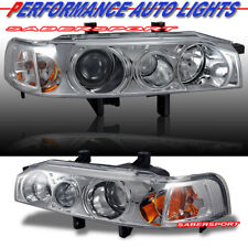 Set of Pair 1pc Style Projector Headlights for 1990-1993 Honda Accord 2dr 4dr