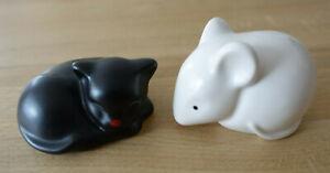 Goebel, 2 Figuren - schwarze Katze + weiße Maus