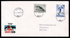 Finnland 489-90 FDC, Nordische Ski-Weltmeisterschaft 1958