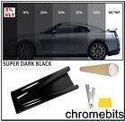 FILM TEINTAGE de vitre voiture Super noir foncé limousine 5% 76cm x 3m NEUF