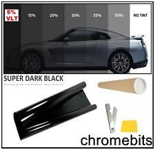 CAR WINDOW TINT FILM TINTING SUPER DARK BLACK LIMO 5% 76cm x 3M NEW