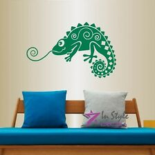 Vinyl Decal Chameleon Lizard Gecko Abstract Any Room Removable Wall Sticker 626