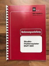 EMT 930 manual de instrucciones original