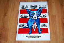 George Rodrigue Blue Dog Cuban Cigar Labels Silkscreen Print Signed Numbered Art