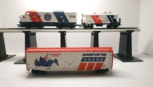 Tyco HO Train Spirit of 76 Bicentennial F7A Powered Diesel & Rolling Stock Lot