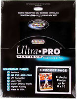 100 ULTRA PRO PLATINUM 1-POCKET Pages 8 x 10 Sheets Protectors Brand New
