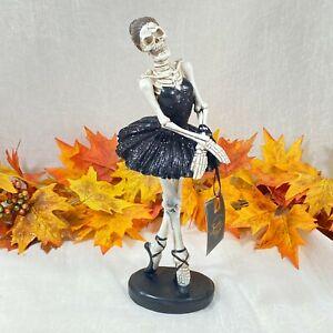 "Spooky Nights Halloween Skeleton Ballerina Figure Statue New 13"""