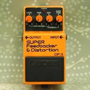 BOSS DF-2 SUPER Feedbacker & Distortion Made in Japan ACA Effect Pedal 803710