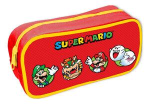 New Super Mario Pencil Case Nintendo Gamer Official Gift Stationery School UK
