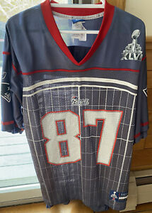 Authentic Rob Gronkowski New England Patriots Super Bowl 46 XLVI Jersey Large L