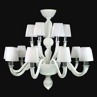 Kronleuchter Weiß Glas Murano Authentic Stil Modern Auch Auf Größe