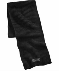 Calvin Klein Mens Knit Ribbed Winter Scarf Black One Size