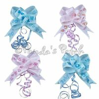 Grosgrain Ribbon Pull Bows Baby Girl/Boy Pink or Blue