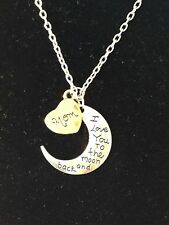 "Fashion Jewelry Silver Gold Plated I Love You To The Moon & Back ""Mom"""