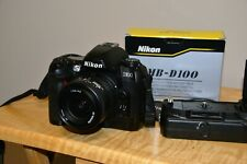 Nikon D100 6.1MP Digital Camera w/ AF 35-70mm, Nikon Grip, 2 Batteries, EX Cond.