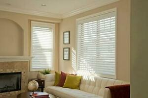 Norman 2.5in Faux wood blind with smart privacy, 64in Drop