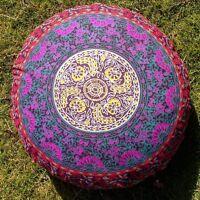 Indien Psychédélique Rond Mandala Méditation Sol Oreillers Bohème Pouf Coussin