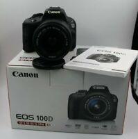 Fotocamera Canon EOS 100d reflex digitale + obiettivo 18-55 IS STM + scatola