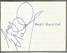 Football Autograph Andy Holden Oldham Athletic FC  Signed Paper Piece F1220