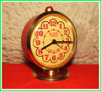 Vintage Mechanical Alarm Clock Slava 11 Jewels Russian USSR Soviet 1980 #24223