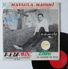 """Vinyle 33T Mayaula Mayoni, T.P. OK Jazz   """"To do one's best - Mizele"""""""
