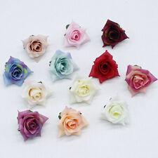 Small Rose Lot Artificial Silk Fake Flower Heads Simulation Rose Wedding Decor