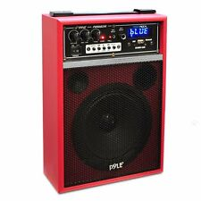 New PWMAB250RD Boom Rock 300W Bluetooth Portable Speaker W/ /USB/SD/AM-FM Player