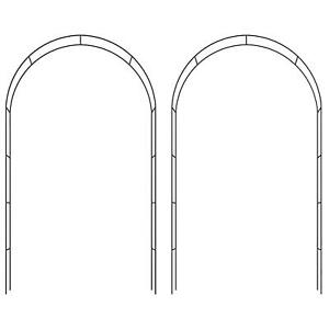 2.4m Garden Arch Metal Tubular Frame Rose Climbing Plants Archway