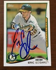 ERIC SOGARD 2014 TOPPS AUTOGRAPHED SIGNED AUTO BASEBALL CARD 135 A'S