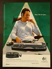 Logitech Cordless Desktop MX 5000 Laser Keyboard -  Magazine Advert #B3953