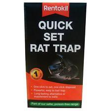 Rentokil Quick Set Rat Trap One-Click to Set & Dispose, Posion-Free Pest Control