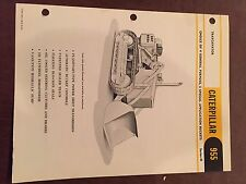 CAT CATERPILLAR  955 CRAWLER LOADER  BROCHURE ORIGINAL ANTIQUE