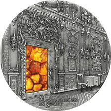 Fiji 2015 10$ Masterpieces in Stone III - Amber Room 3 oz Silver Coin